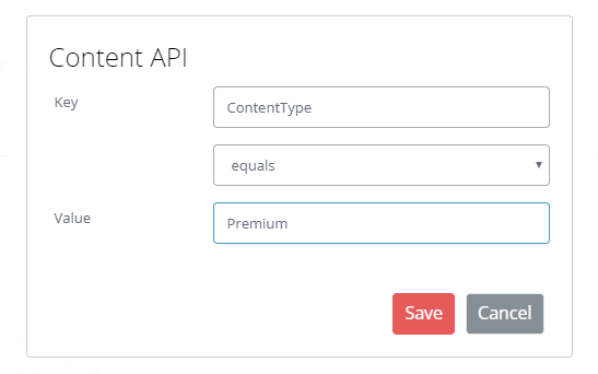 Shows set up of Content API Decision Point