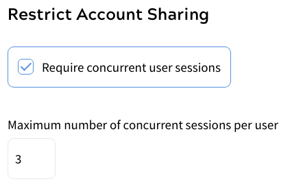 Restricting concurrent user sessions to 3