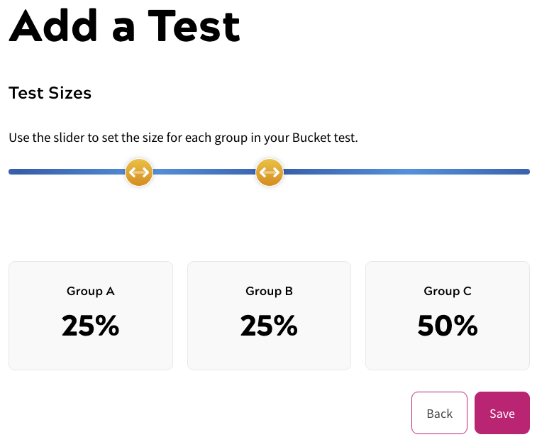 Creating Bucket Tests - Step Two