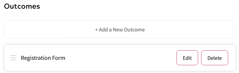 Shows Outcomes Section Below Rules Canvas