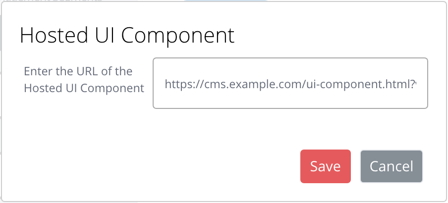 Hosted UI Component