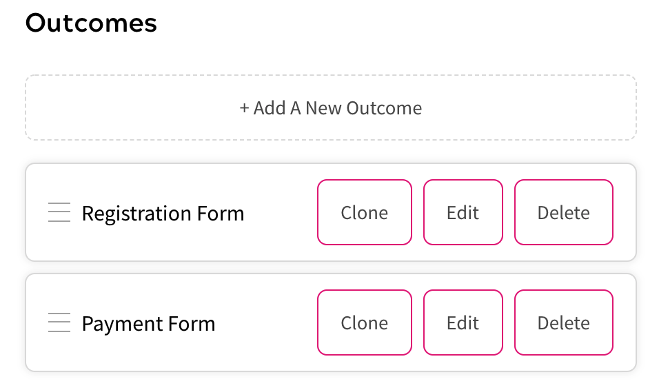 Feature Outcomes - Cloning, Deleting, Editing