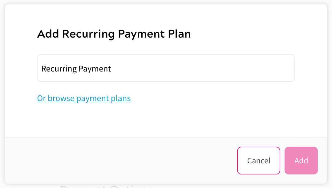 Adding a Product - Recurring Payments