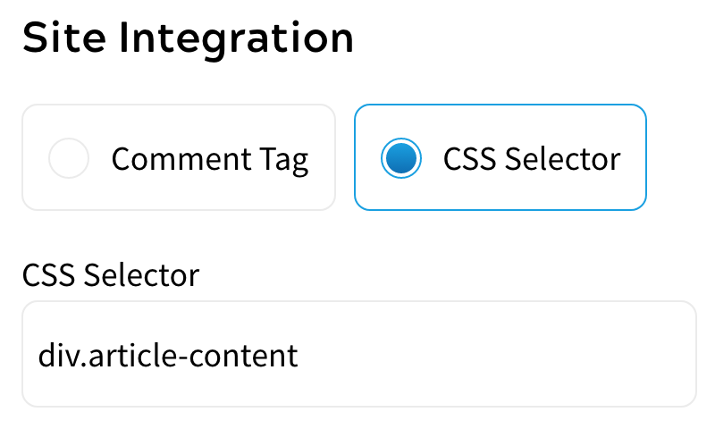 CSS Selector Example