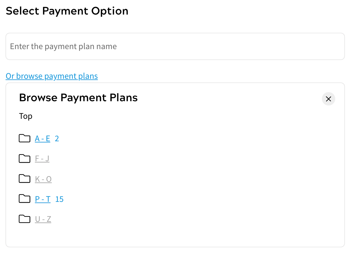 Products - Select Payment Option