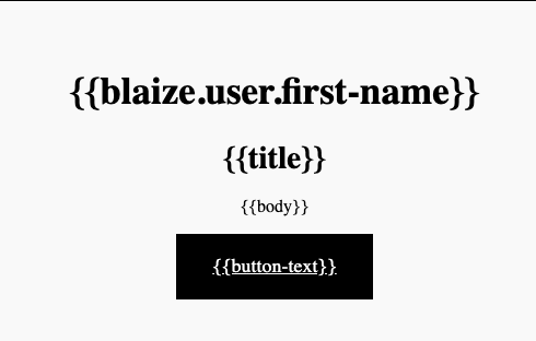 An example template used for the Zephr Component Library