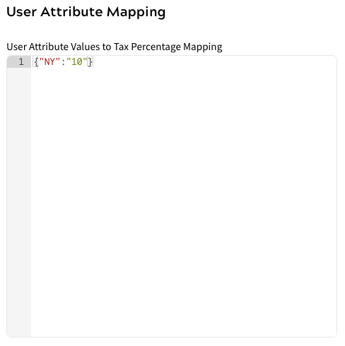 Sales Tax Extension - User Attribute Mapping