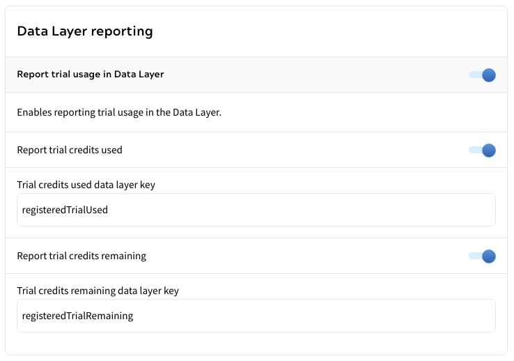 Data Layer Trial Reporting